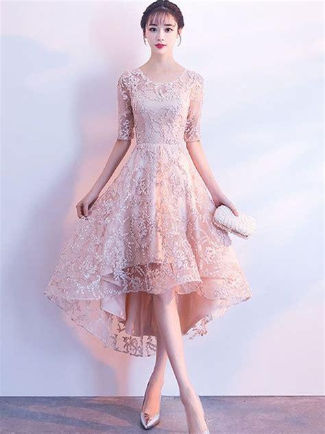 embroidery  neck  sleeves midi dresses dress