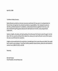 6 hr reference letter templates 6 free word pdf With refrence letter template