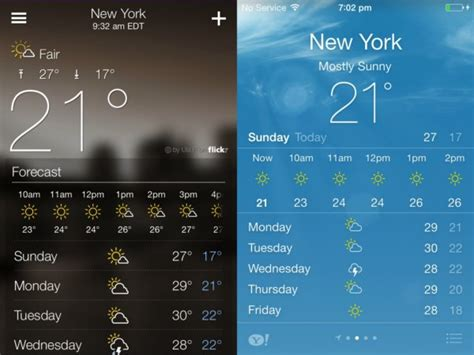 weather apps for iphone exhaustive list of ios 7 features