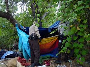 SWEEPS OF HOMELESS CAMPS IN RANCHO SAN DIEGO East County