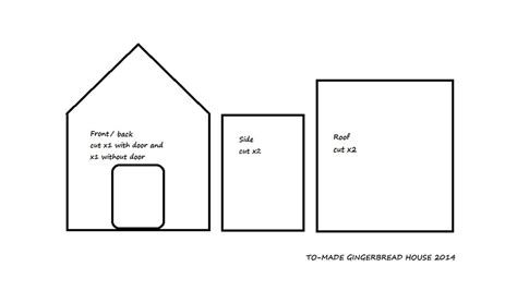 gingerbread house template pdf gingerbread house template