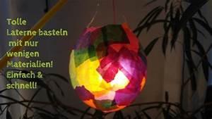 Laterne Basteln Schnell : diy tolle bunte laterne basteln einfach und schnell youtube ~ Watch28wear.com Haus und Dekorationen
