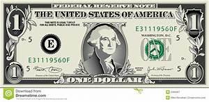 Dollar Bills Vector Clipart
