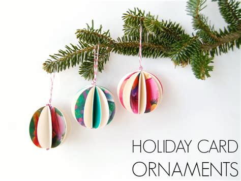 holiday card paper ornaments easy diy ornaments c r a f t