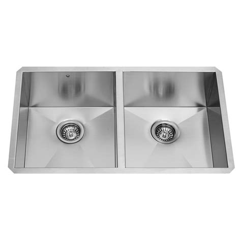 vigo undermount stainless steel kitchen sink vigo undermount stainless steel 32 in bowl kitchen 9577