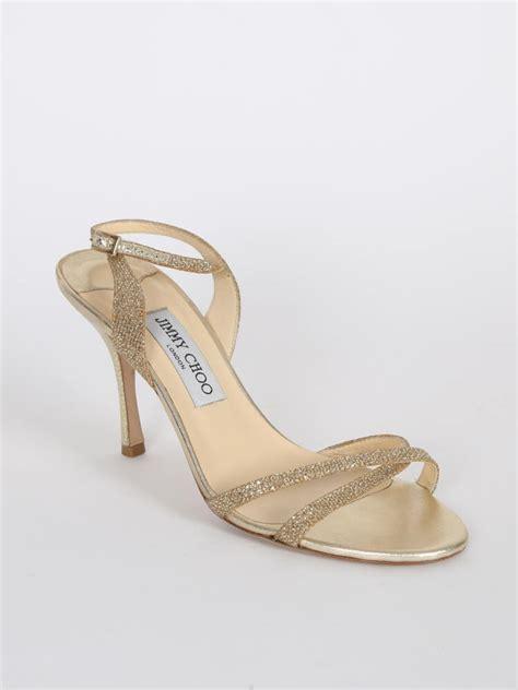 jimmy choo ingrid gold glitter heel sandals  luxury bags