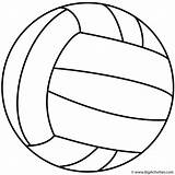 Volleyball Coloring Pages Sports Template Clipartmag Templates Sketch Goal Football sketch template