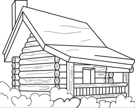 printable log cabin coloring page  kids coloring home