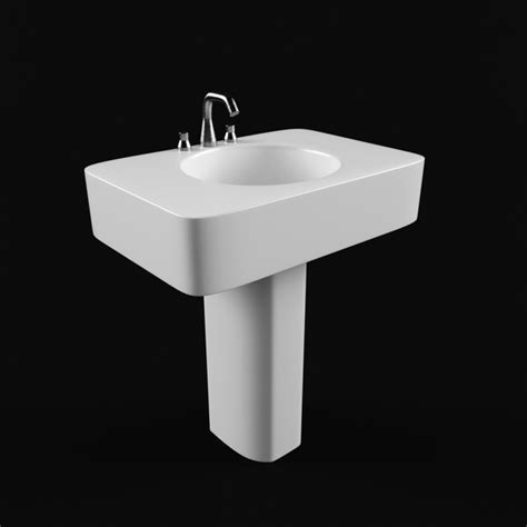 Pedestal wash basin 3d model 3ds Max,Autodesk FBX files