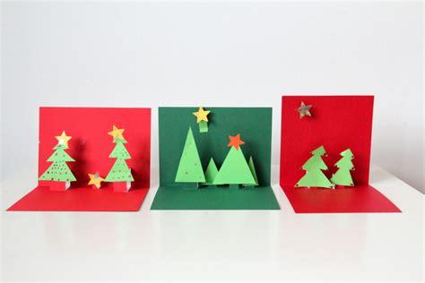 weihnachtskarten basteln 3d basteln mit kindern