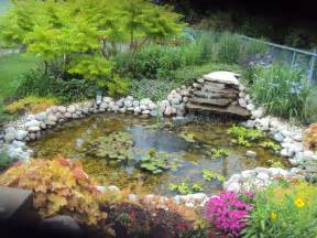 Pond Backyard Flower Gardens