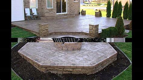 Ideas For Patios by Cool Concrete Patio Ideas