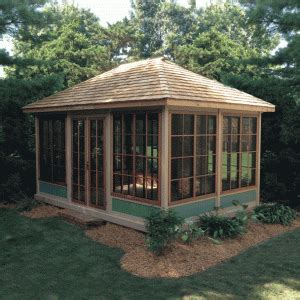 wood rectangle  season gazebos woodbridge
