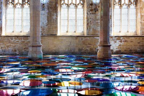 colour reflection artist liz west fills church