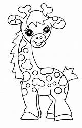 Giraffe Coloring Printable Colour Colouring Giraffes Sheets Sheet Animal Bestcoloringpagesforkids Children Clip Animals sketch template