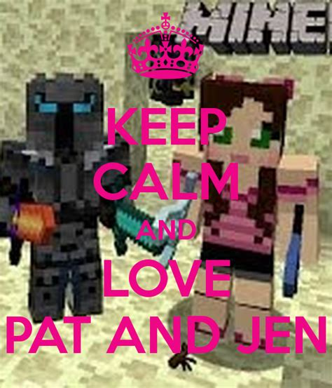 KEEP CALM AND LOVE PAT AND JEN Poster