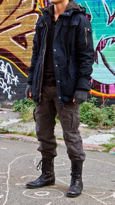 Cargo Pants Ralph Lauren Black Sidezip Combat Boots