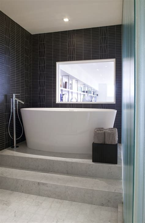 raised bathtub modern bathroom details