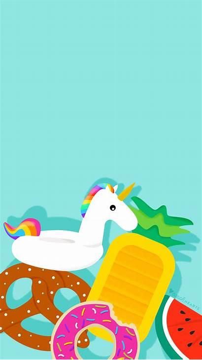 Summer Pool Tablet Splash Unicorn Float June