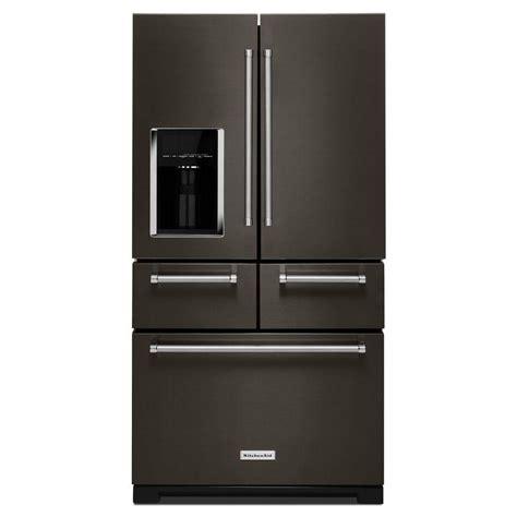 Kitchenaid Fridge Model Number by Kitchenaid 25 8 Cu Ft Door Refrigerator In Black
