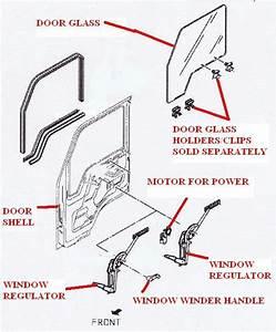 17401 578 Rh Right Hand Drivers Side Window Regulator