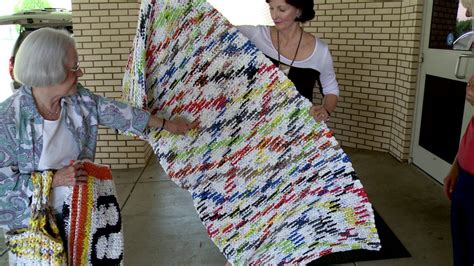 plastic bag mats sleeping mats made from plastic bags donated to school