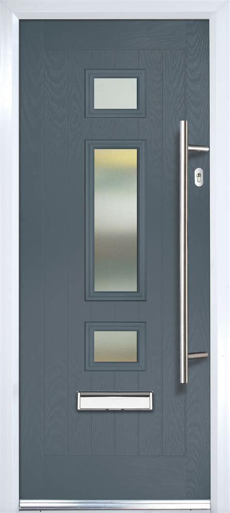 composite grey pvcu grp glazed external front door frame lh hmm wmm
