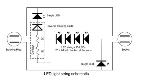 wiring diagram for string of christmas lights georgesworkshop fixing led string lights