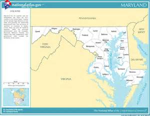 Maryland Map with Counties Printable