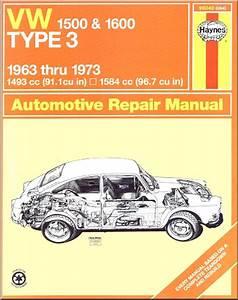 Vw 1500  1600 Type 3 Repair Manual 1963-1973