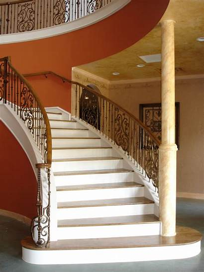 Staircase Iron Panels Stair Balusters Gothic Spiral