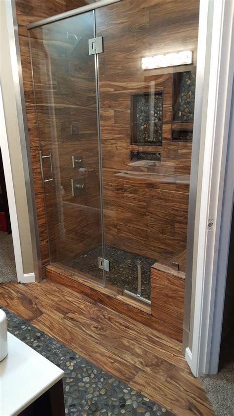 bathroom cozy pebble shower floor  unique