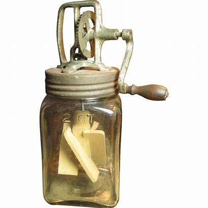 Butter Churn Glass Antique Favorite Granny Rubylane