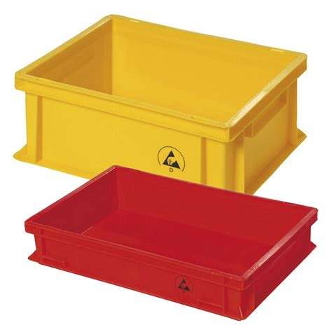 anti static storage boxes static dissipative plastibox