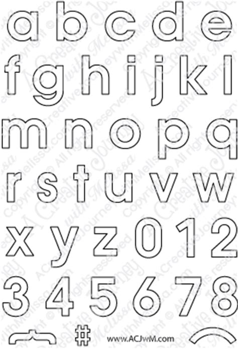 Alphabet Outline Clear Sts And Crafting Products Melissa Mueller