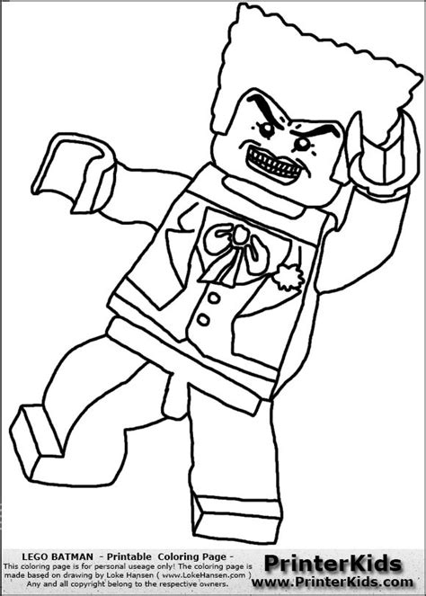 The Joker Batman Free Colouring Pages