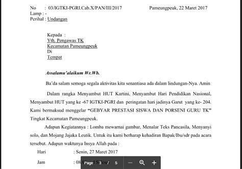 contoh surat undangan resmi tk paud ra kb tpa format word