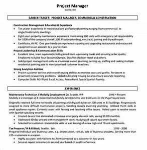 10 Construction Resume Templates – Free Samples Examples