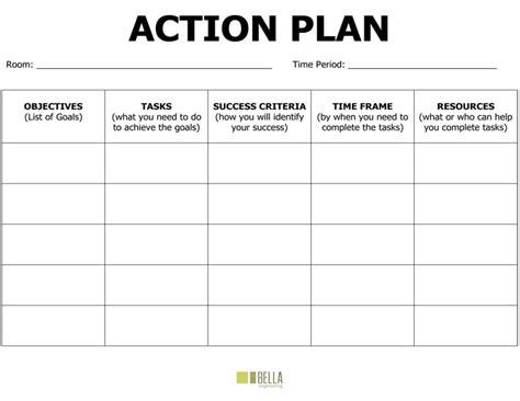 freeaction plan templates excel  formats