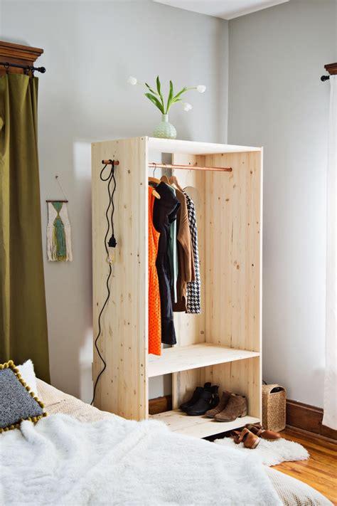 pine shelf diy modern wooden wardrobe with copper details shelterness