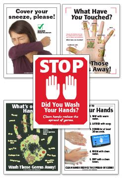 infection  germ control educational materials posters