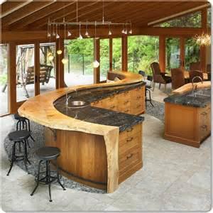 bar island for kitchen curved island bar design for a kitchen