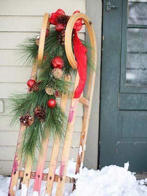 windräder basteln für draussen schlitten vor der tuer deko au 223 endeko weihnachten