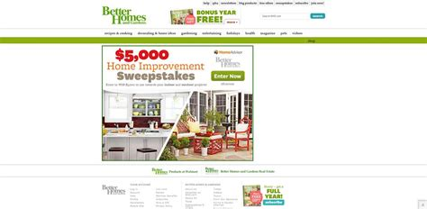 Better Homes And Gardens $5,000 Home Improvement Sweepstakes
