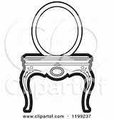 Vanity Mirror Clipart Table Illustration Royalty Vector Perera Lal Cliparts 2021 Regarding Notes Clipground sketch template