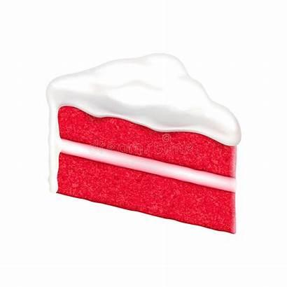 Velvet Cake Slice Pie Background Illustration Cartoon