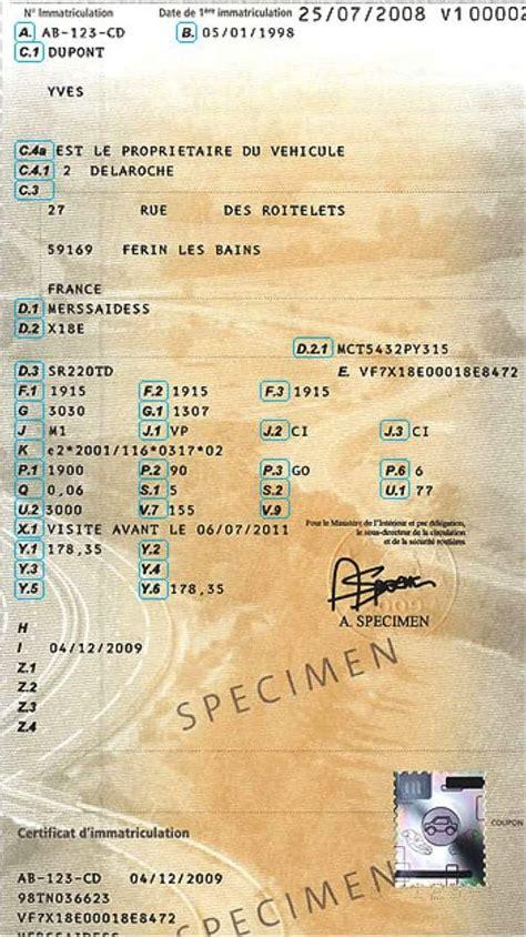 tout savoir sur la carte grise le certificat dimmatriculation
