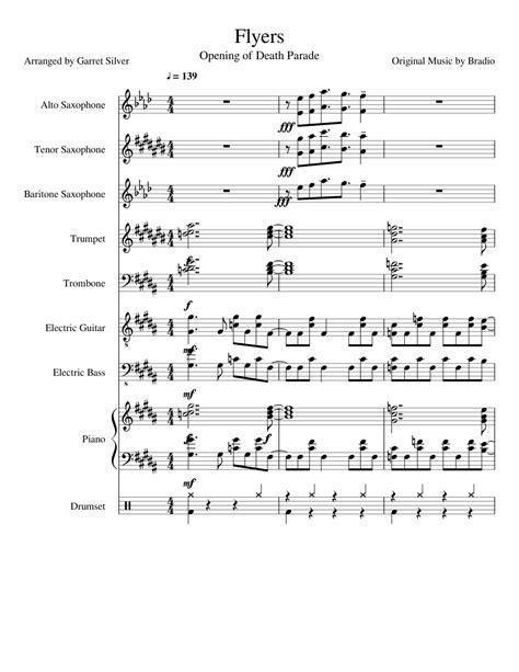 bradio flyers death parade op full jazz band sheet