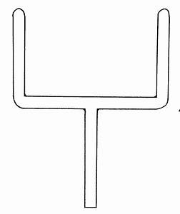 Outline Goal Post Clipart - The Cliparts