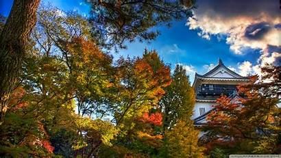 4k Japan Autumn Japanese Castle Ultra Uhd